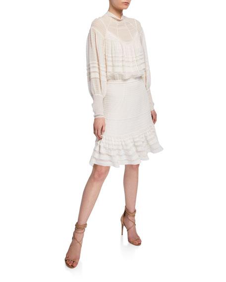 Ninety-Six Pintucked Mini Dress