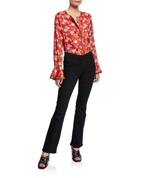Sallie Mid-Rise Boot-Cut Trouser