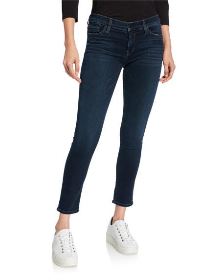 171c04d370f Hudson Tally Mid-Rise Crop Skinny Jeans w/ Frayed Hem