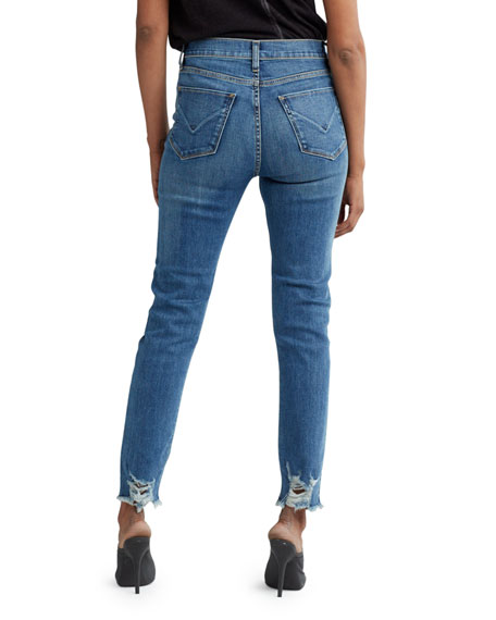 Holly High-Rise Cropped Jeans with Side Patches
