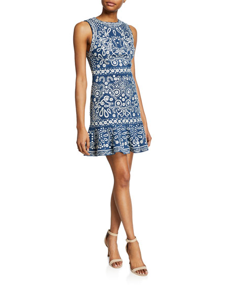 Image 1 of 1: Rapunzel Embroidered Sleeveless Dress