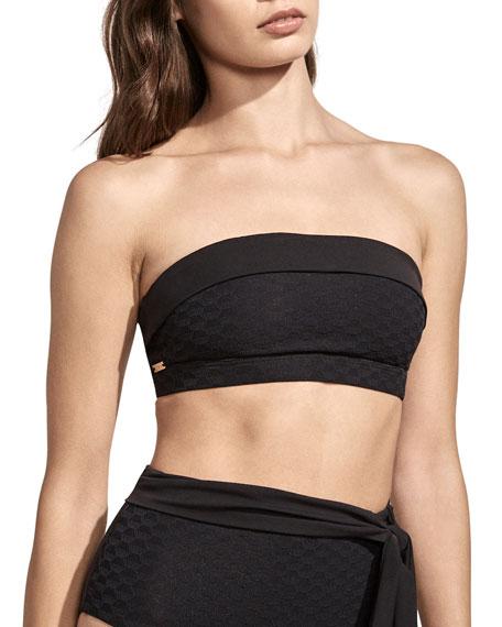 Sabine Jacquard Bandeau Bikini Top