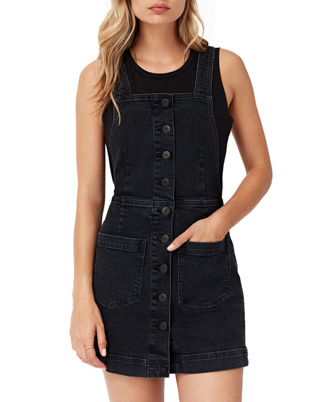 Image 1 of 1: Rose Short Denim Overall Dress