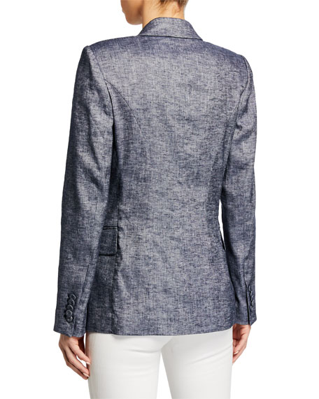 Palma Notched-Collar One-Button Jacket