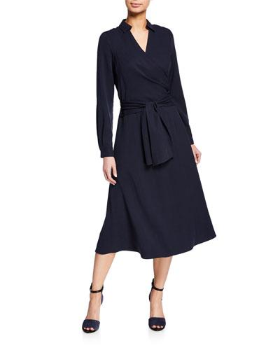 Andie Self-Tie Wrap Dress