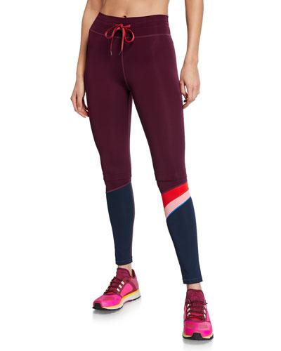 Marron Retro Drawstring Yoga Pants