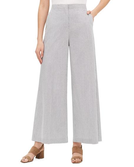 Kensington Urbina Stripe Wide-Leg Pants