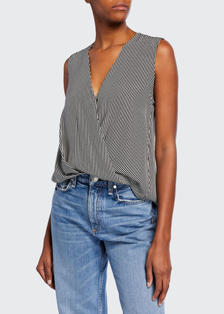 Victor Striped Sleeveless Blouse