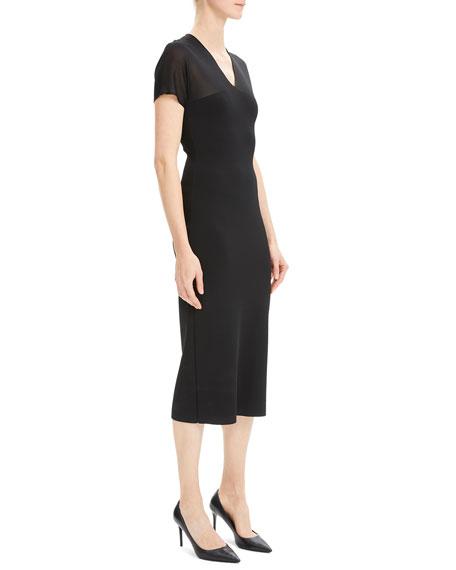 e38f7bd8c4f4 Short-Sleeve V-Neck Kimono Midi Dress