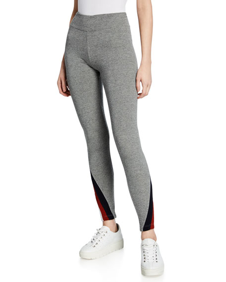 Striped Color-Inset Yoga Pants