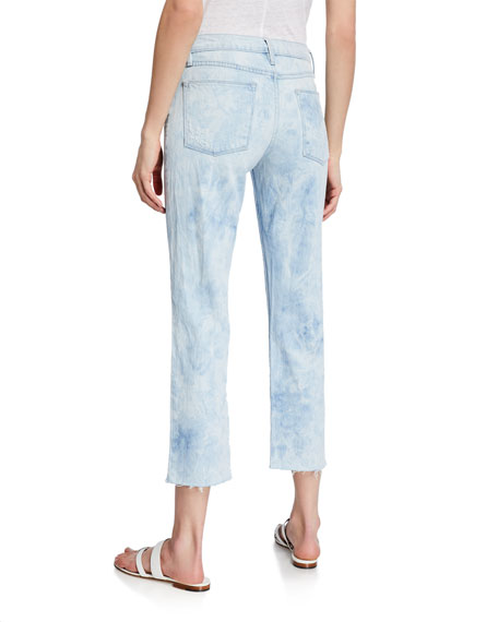 Le High Straight Raw-Edge Jeans