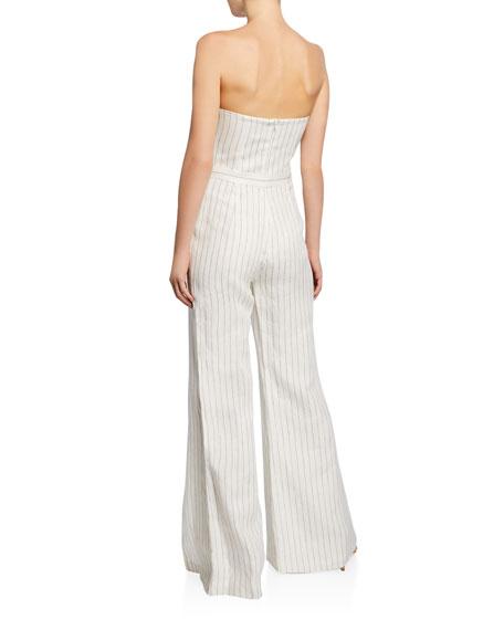 Charlize Strapless Pinstripe Jumpsuit