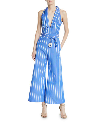 339c0cae7c6 Eckhart Striped Sleeveless Wide-Leg Jumpsuit Quick Look. Alexis