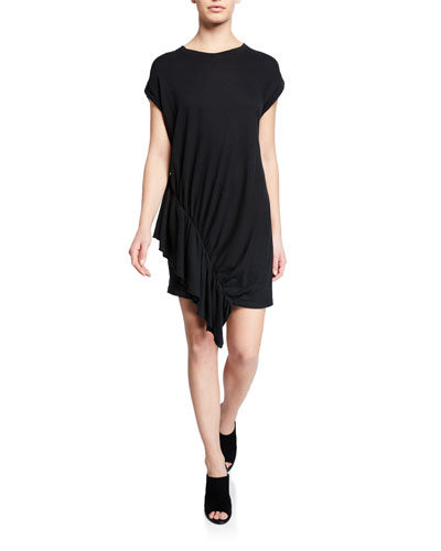 The Pacific Ave Ruched Ruffle Shirtdress