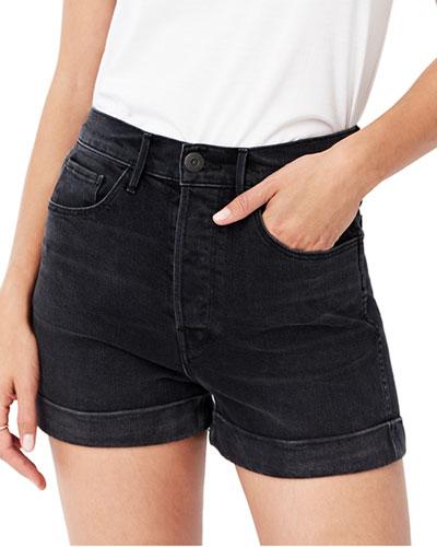 Eden Stone-Washed Denim Shorts