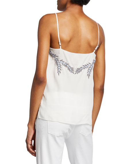 Soraya Silk Camisole with Beaded Details