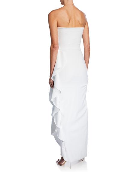 Nyaveth Strapless Bustier Side-Drape Long Dress