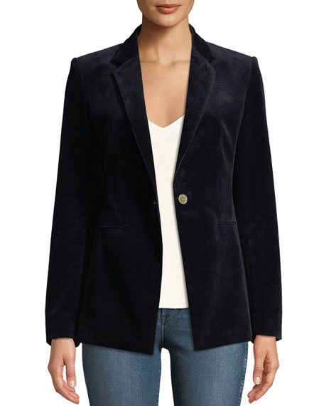 Image 1 of 1: Power One-Button Modern Corduroy Jacket