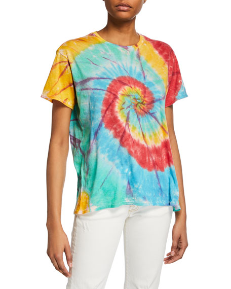 Image 1 of 1: Tie-Dye Rainbow Boy Tee