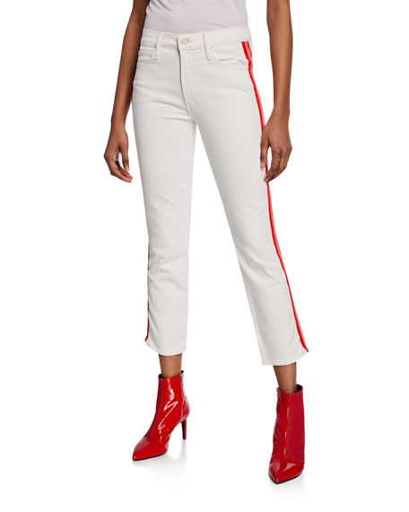The Mid-Rise Dazzler Crop Jeans w/ Side Stripes