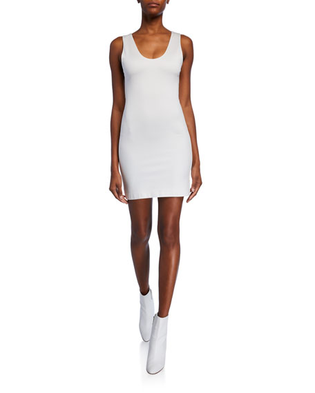 Image 1 of 1: James Fitted Scoop-Neck Mini Dress