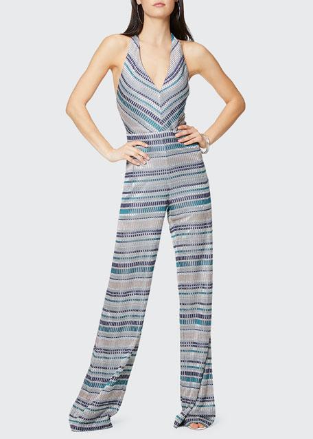Riana Printed Halter Jumpsuit