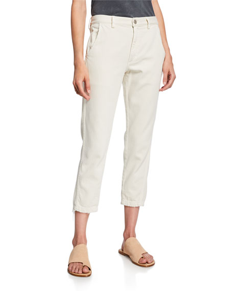 Slouch Cropped Straight-Leg Trousers