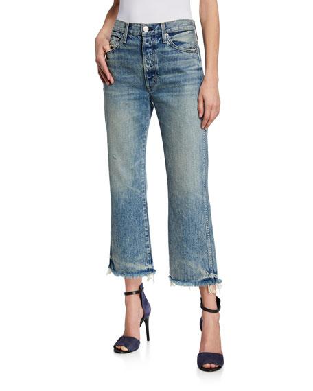 AMO Denim Emma Cropped Wide-Leg Jeans