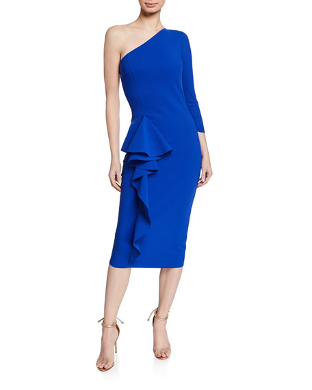Chiara Boni La Petite Robe One-Shoulder Asymmetric-Ruffle