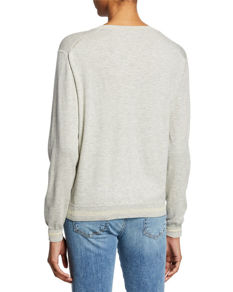 Keno Long-Sleeve V-Neck Top