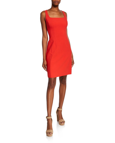 Image 1 of 1: Mariola Square-Neck Sleeveless Sheath Dress
