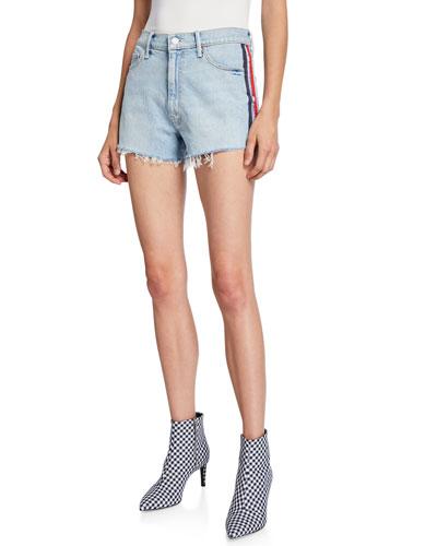 Easy Does It Frayed Denim Shorts