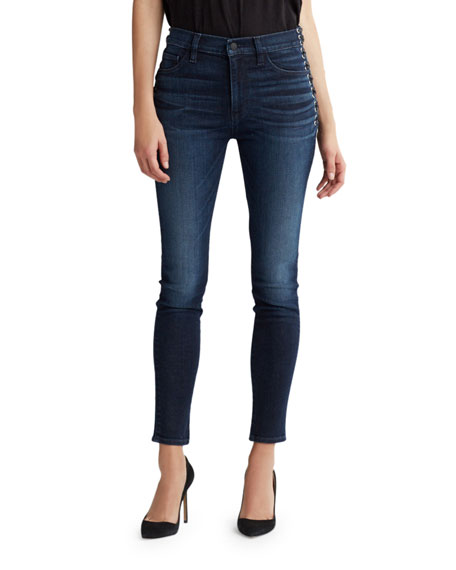 Image 1 of 1: Barbara High-Rise Super Skinny Ankle Jeans