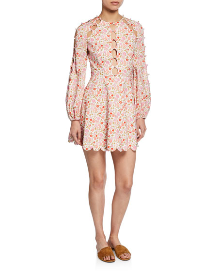 Goldie Scalloped Floral Short Dress