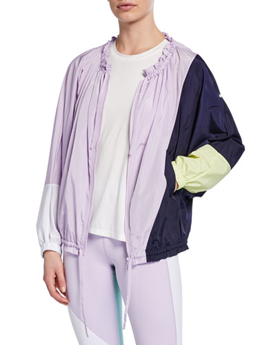 color splice zip-front wind jacket