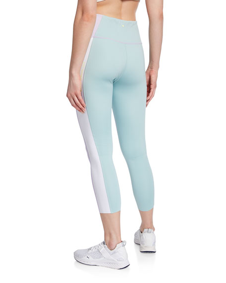color spliced high-rise active leggings