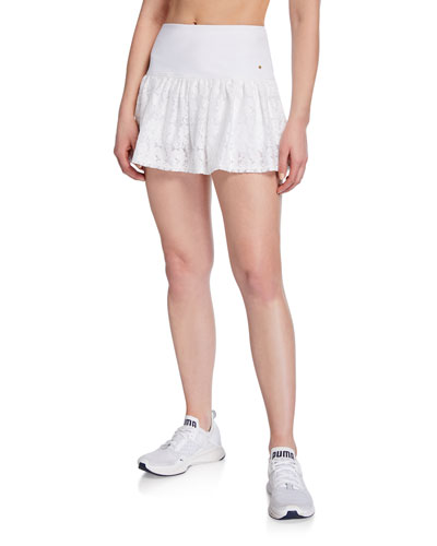 textured lace tennis skirt