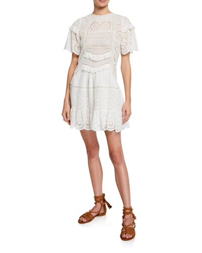Zinnia Eyelet Lace Tunic Dress