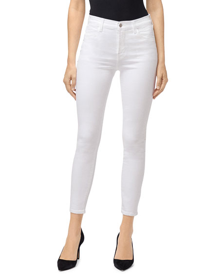 J Brand Jeans ALANA HIGH-RISE CROP SKINNY JEANS