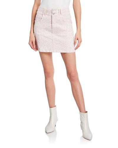 The Flute Leopard-Print Mini Skirt