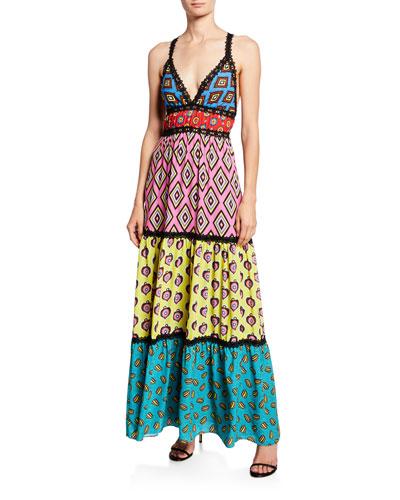 1e84da19d9e5 AO x CARLA Karolina Paneled Maxi Dress Quick Look. Alice + Olivia