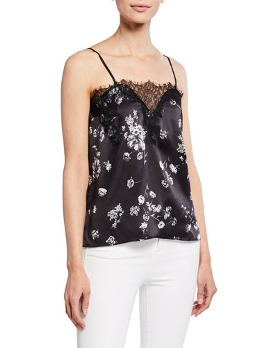 be9c51fb64e64 The Sweetheart Floral Charmeuse Cami with Lace