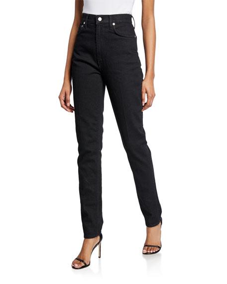 Femme Hi Spikes Straight Leg Denim Jeans by Helmut Lang