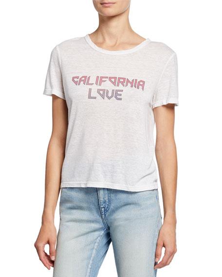 California Love Short-Sleeve Linen Slogan Tee