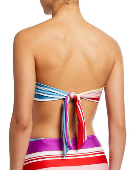 Striped Bandeau Bikini Top