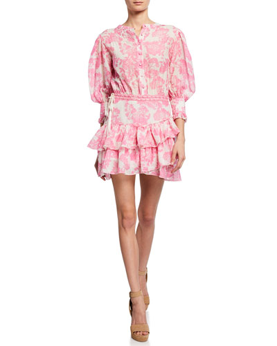 432317cf7758 Lorelei 3/4-Sleeve Floral Short Dress