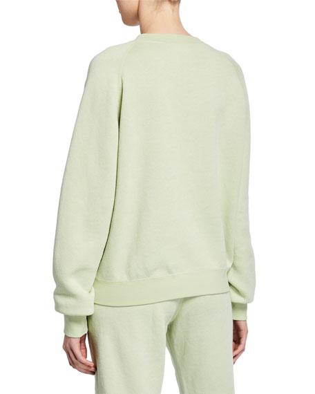 Crewneck Raglan-Sleeve Vintage Fleece Sweatshirt