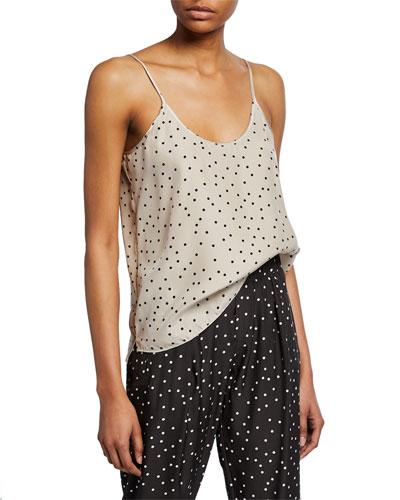 Polka-Dot Silk Camisole