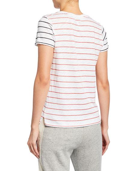 Striped Slub Jersey Short-Sleeve Cotton Tee