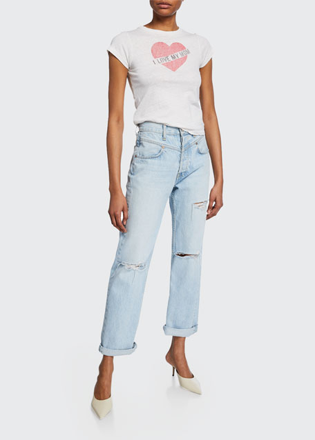 The 90s Double-Yoke Distressed Jeans